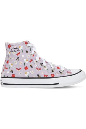 Converse Girls Trainers - Spring Print Chuck Taylor Sneakers