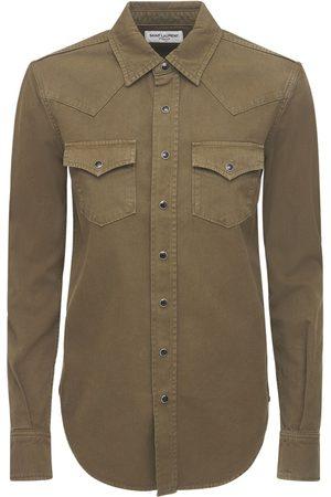Saint Laurent Western Cotton Denim Shirt