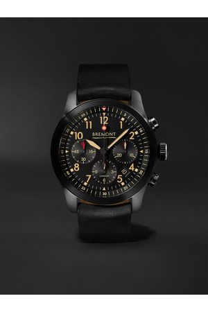 Bremont ALT1-P2 Jet Automatic Chronograph 43mm Stainless Steel and Leather Watch