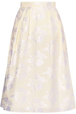 Erdem Reed A-line Floral Fil-coupé Skirt - Womens - Ivory