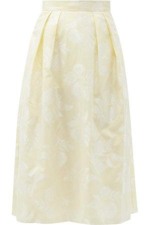 Erdem Reed A-line Floral Fil-coupé Skirt - Womens - Ivory