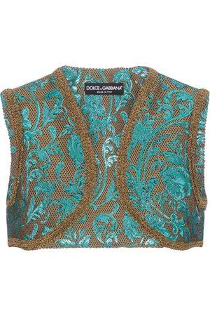 Dolce & Gabbana Women Singlets - Floral-brocade vest