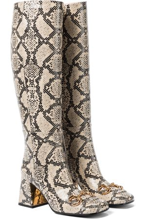 Gucci Horsebit leather knee-high boots
