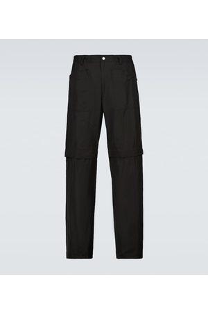 DRIES VAN NOTEN Convertible cotton trackpants
