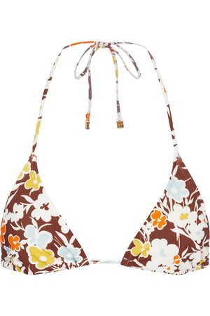 Tory Burch Floral triangle bikini top