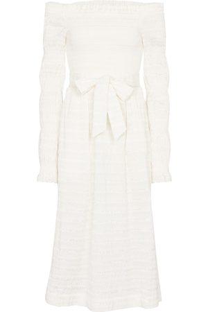 Rebecca Vallance Jame off-shoulder midi dress