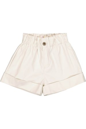 PAADE Dale stretch-denim paperbag shorts
