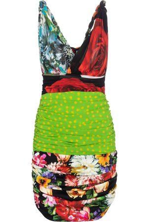 Dolce & Gabbana Printed stretch-silk minidress