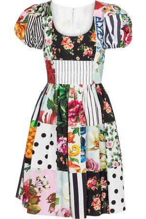 Dolce & Gabbana Printed cotton minidress