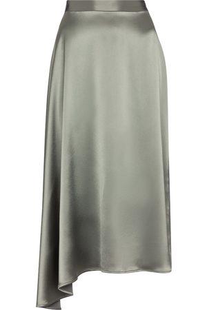 Deveaux New York Merel satin slip skirt