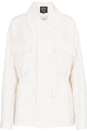 Stella McCartney Cotton and linen-blend jacket