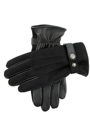 Dents Men's Fleece Lined Flannel Back Leather Gloves In Size M