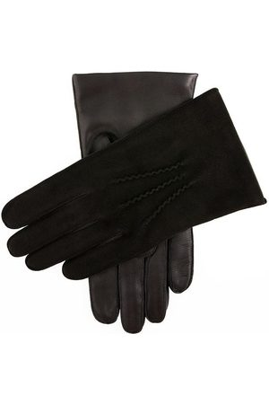 Dents Men's Cashmere Lined Suede And Leather Gloves In Size L