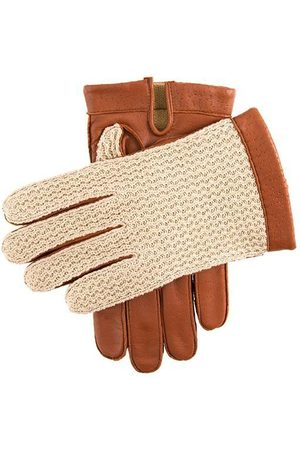 Dents Men's Warm Lined Crochet Back Driving Gloves In Size 10