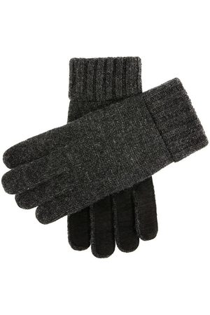Dents Men's Knitted Gloves With Suede Palm Patch In Size L
