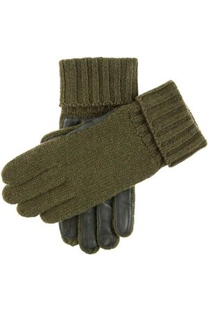 Dents Knitted Shooting Gloves With Leather Palm In Size M