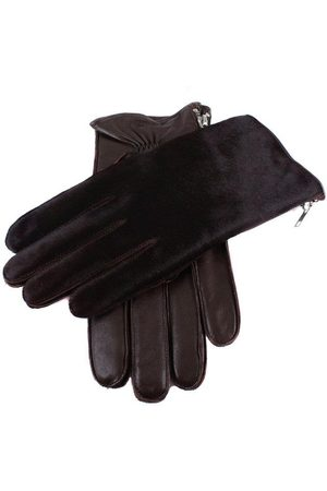 Dents Men's Cashmere Lined Ponyskin And Leather Gloves In Size L