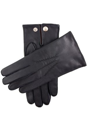 Dents Men's Red Cashmere Lined Leather Gloves In Size S