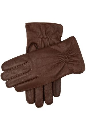 Dents Men's Handsewn Cashmere Lined Deerskin Leather Gloves In Size S
