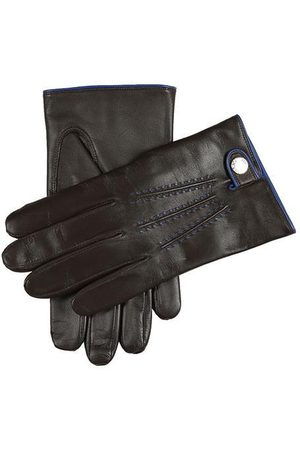 Dents Men'S Cashmere Lined Leather Gloves With Contrast Details In Size S