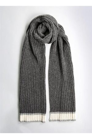 Dents Men's Knitted Scarf With Stripe Detail In Size One
