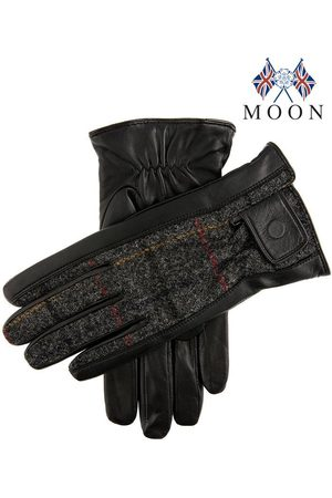 Dents Men's Abraham Moon Tweed & Leather Gloves In Size Xl