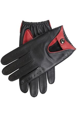 Dents Men's Contrast Colour Leather Driving Gloves In Size S