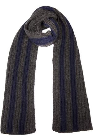 Dents Men's Knitted Scarf With Contrasting Stripes In Size One