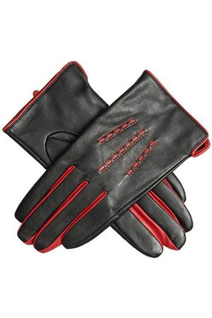Dents Women Gloves - Women's Leather Gloves With Contrast Details In Size S
