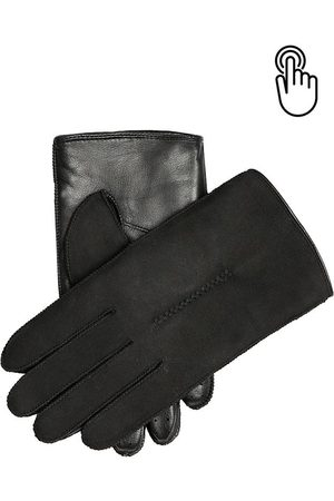 Dents Men'S Sheepskin & Touchscreen Leather Gloves In Size S