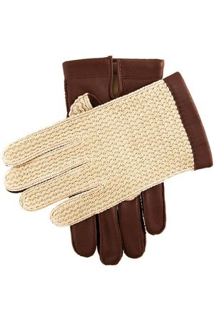 Dents Men's Warm Lined Crochet Back Driving Gloves In Size 11