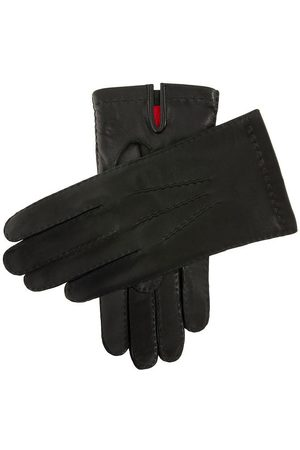 Dents Men's Handsewn Silk Lined Leather Gloves In Size 8