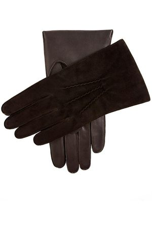 Dents Men Gloves - Men's Cashmere Lined Suede And Leather Gloves In Size L
