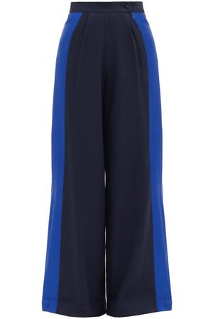‎Taller Marmo‎ Palm Beach Satin-panel Crepe Wide-leg Trousers - Womens