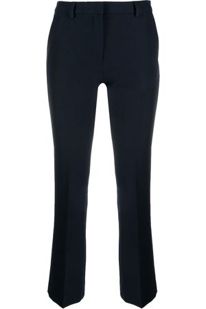 adidas High-rise cropped kick-flare trousers
