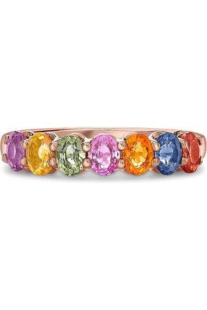 adidas 18kt rose gold sapphire Rainbow ring