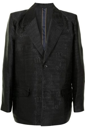 adidas Jacquard-patterned single-breasted blazer