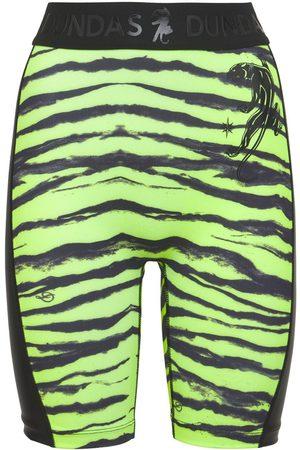 adidas Printed Lycra Biker Shorts W/ Side Logo