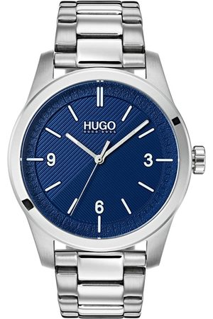 HUGO BOSS Create Blue 3 Hand Dial With Stainless Steel Bracelet Mens Watch