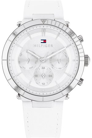 adidas Stainless Steel Case And White Leather Strap Watch