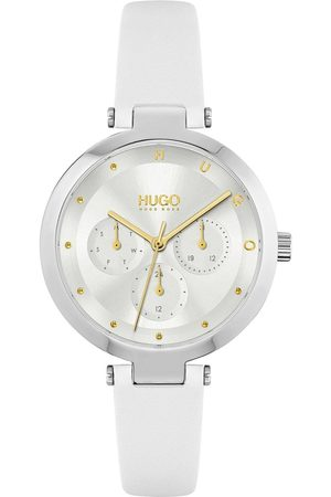 adidas #Hope Multi Silver White Dial And White Leather Strap Ladies Watch