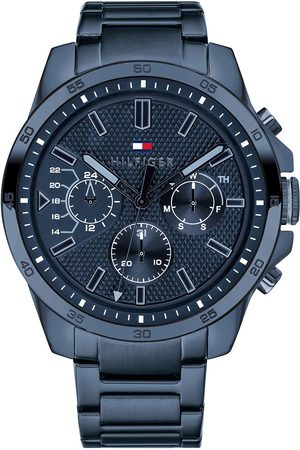 adidas Blue Chronograph Dial Blue Ip Stainless Steel Bracelet Mens Watch