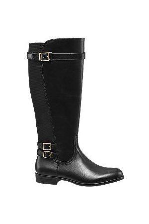 adidas Black Elasticated Long Leg Boots