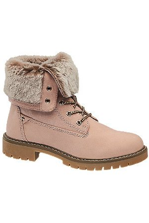 adidas Women Ankle Boots - Fur Top Lace-up Ankle Boots