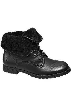 adidas Fur Turnover Collar Ankle Boots
