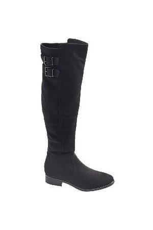 adidas Women High Leg Boots - Faux Suede Long Leg Boots