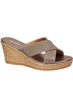 adidas Bronze Wedge Mule Sandals