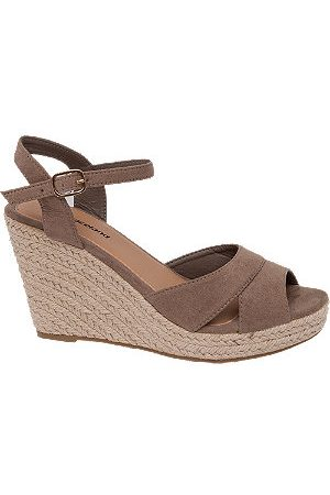adidas Taupe Wedge Sandals