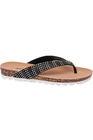 adidas Women Sandals - Ladies Black Toe-Post Sandals