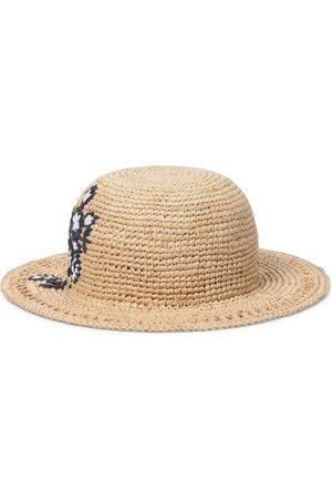 adidas Embroidered raffia hat